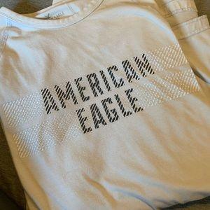 White long sleeve American eagle shirt